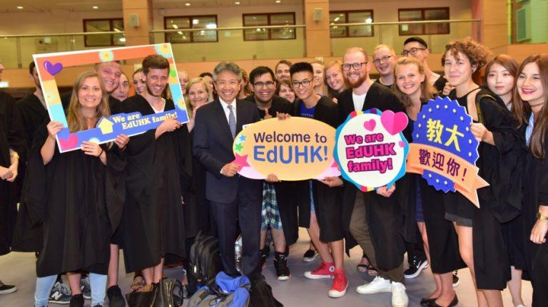 教大重視學生的海外經驗,鼓勵學生交流之餘,也致力打造國際化的校園環境,希望學生不管在校內校外都有放眼國際的機會。(圖片:香港教育大學提供)