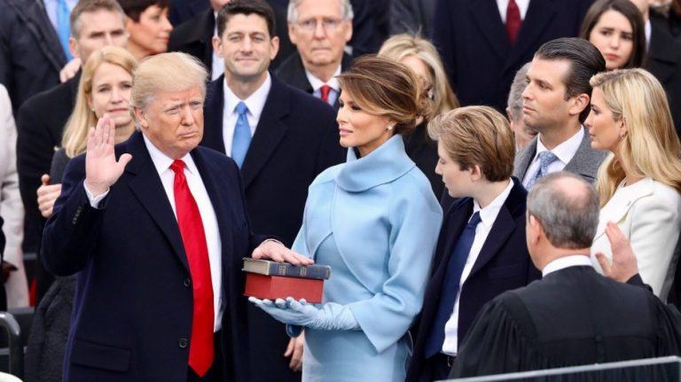 特朗普宣誓就任美國總統(白宮圖片)