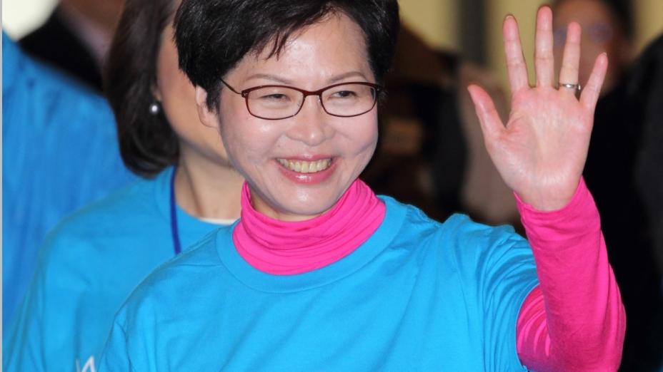 行政長官候選人林鄭月娥(亞新社)