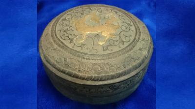 香港古月堂珍藏唐代銀鎏金龍紋盒(作者提供)