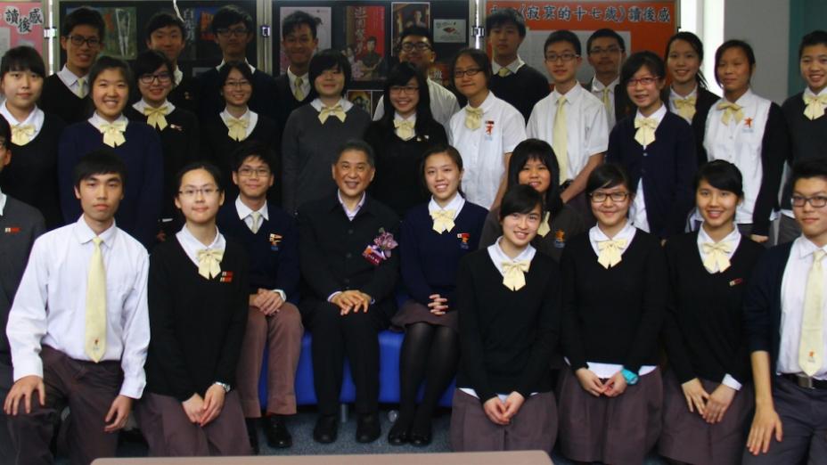 白先勇教授深受學生歡迎。(灼見名家圖片)