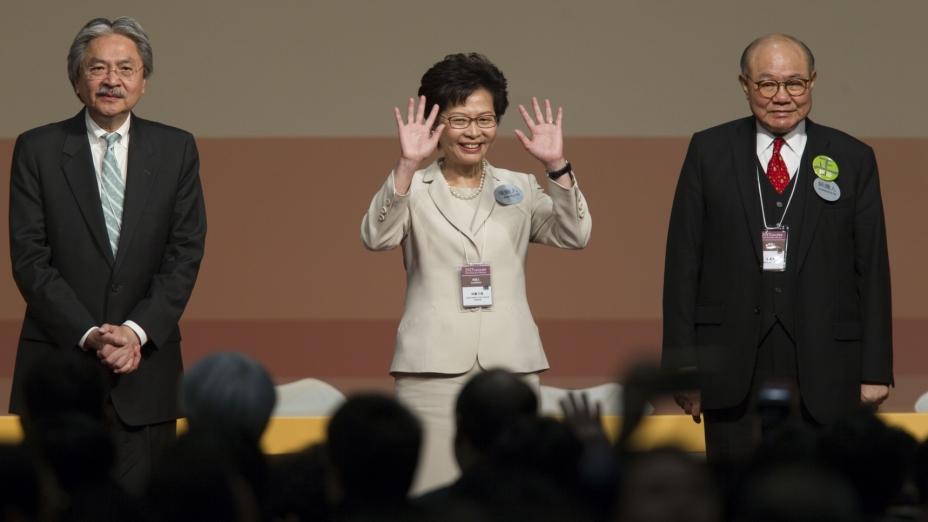 林鄭月娥得777票當選(亞新社)