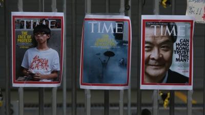 雨傘運動是香港開埠以來最大規模的民主運動,歷時79天,有超過100萬人參與,在現代公民抗命史上寫下重要的一頁。(亞新社)