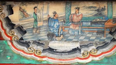 根據《三國演義》中隆中對情節繪製的頤和園長廊彩繪。(wikimedia commons)