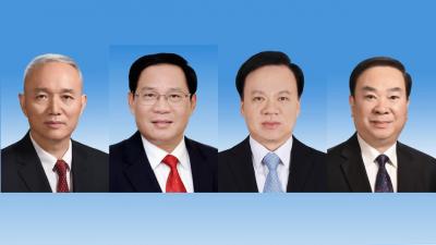 之江大軍在政壇崛起,自左至右:蔡奇、李強、陳敏爾和黃坤明,均為新政治局委員,分別為北京、上海、重慶市委書記和中央宣傳部部長。(網絡圖片)