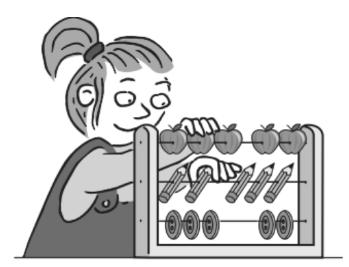 加法運算題裏,即使物件轉換了,如果加數和被加數的數量不變,孩子也能正確回答。(天下文化)