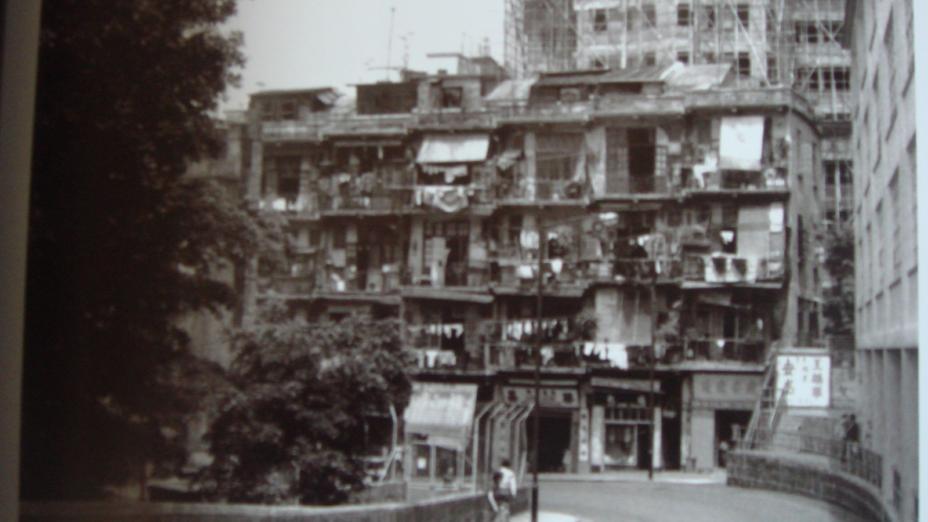 筆者童年居住是薄扶林道路段。右旁欄杆為李陞小學。