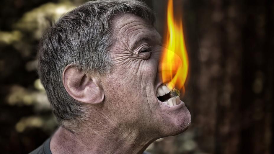 容易暴燥發火的人,最終受傷害的都是自己。(Pixabay)
