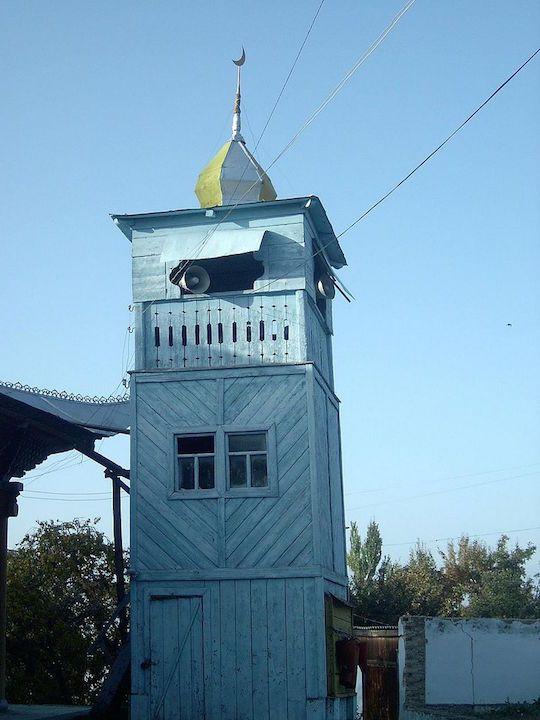 吉爾吉斯的東干清真寺「宣禮塔」