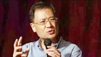 清華大學教授許章潤在演說。(網絡圖片)