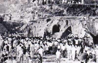 1955年李鄭屋漢墓出土時的情況。