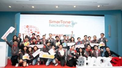 第二屆SmarTone Hackathon比賽吸引了本港及世界各地過百位參賽者組成19支隊伍參加。(SmarTone Facebook)