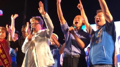 韓國瑜的口號「人進去,貨出來」,多少幫上他當選高雄市長。(韓國瑜facebook)