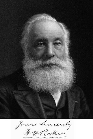 英國化學家柏金在18歲發現了首個苯胺染料──苯胺紫。(Wikimedia Commons)