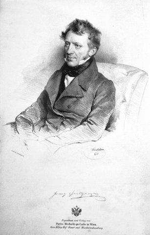 奧地利劇作家法蘭茲·格里帕策,為悼念貝多芬而寫墓前致辭。(Wikimedia Commons)