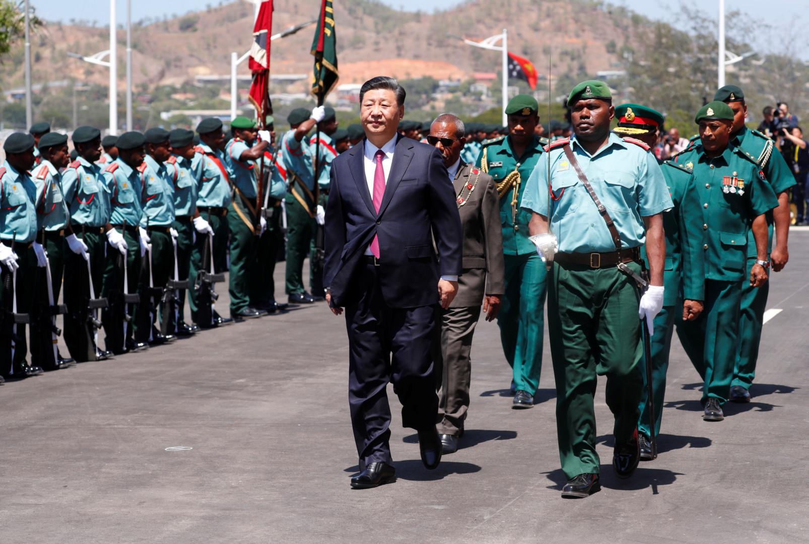 習近平就任後提出一帶一路,擴大中國與歐亞非三洲商貿。(亞新社)