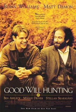 電影《驕陽似我》裏,在教授肖恩的幫助下,威爾最終把心靈打開,消除了人際隔閡,並找回了自我和愛情。(Wikimedia Commons)