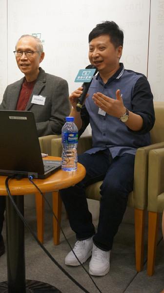 蒲葦老師(右)表示,《師生有情》50封書信都與學生和青年有切身關係,希望引起年輕人的共鳴和反思。