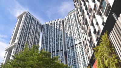 新加坡公屋私樓完全分隔,市場互不相通。(Pixabay)