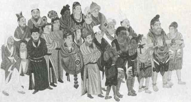莫高窟壁畫〈西域人〉,是甘肅敦煌市敦煌壁畫作品。