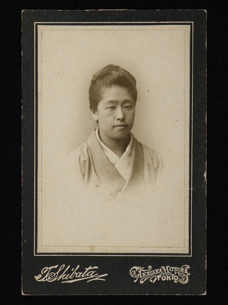 女子英學塾(現津田塾大學)創校時津田梅子肖像。