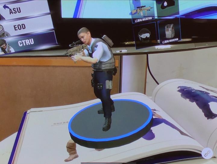 警隊特刊擴增實境的3D模型效果