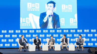 左起:保險業監管局譚偉民 、Blue孔德秋、OneDegree郭彥麟、Bowtie顏耀輝及眾安國際許煒。
