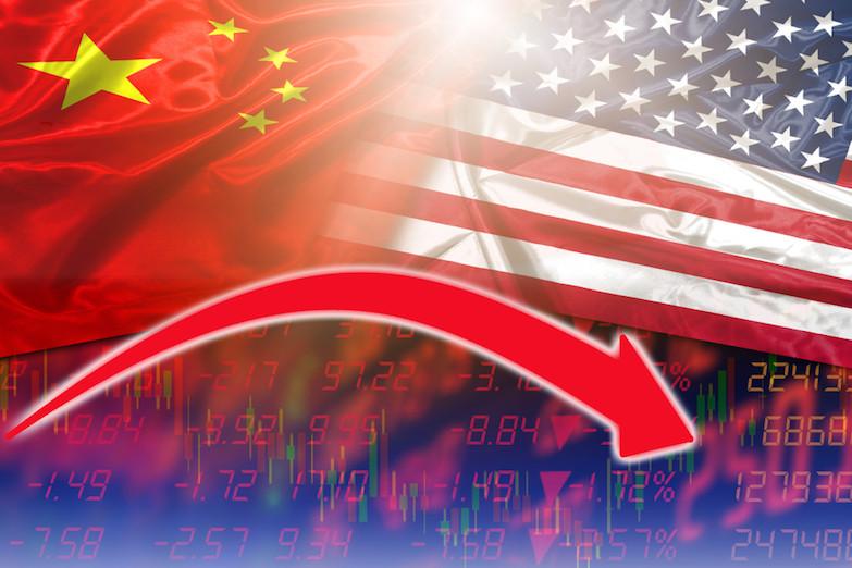 貿易戰對美國的負面影響已在股票市場浮現,據《金融時報》的報道,標準普爾500指數在中國公布反制措施後下跌2.4%。(Shutterstock)
