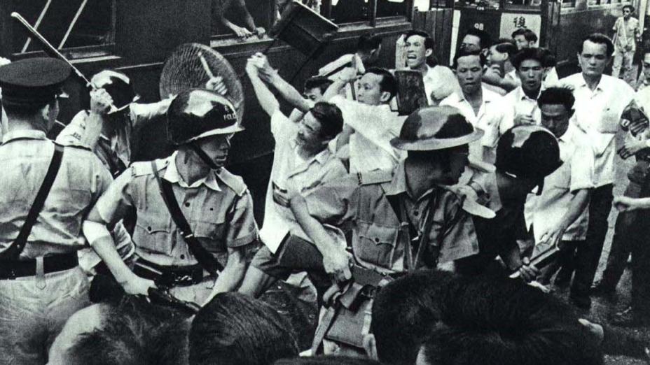 1967年的維持大約半年的全城騷動,官方把整個過程分為三個階段,示威抗議浪潮,罷工罷市,最後為城市恐怖主義的炸彈浪潮。(Wikimedia Commons)