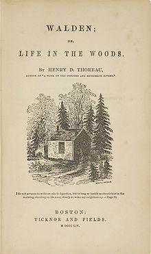 《瓦爾登湖》是超驗主義經典作品,在美國文學中被公認為最受讀者歡迎的非虛構作品之一。(Wikimedia Commons)