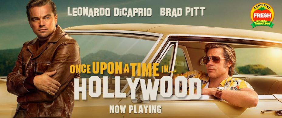 看塔倫天奴這齣毀譽參半的電影,放下批判的殺傷武器,小部分是因為電影努力重組七十年代的風情畫。(Once Upon a Time in Hollywood Facebook)