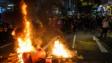 街頭的破壞性暴力行為並不會成功,示威並無實際意義,只會製造混亂和造成破壞。(亞新社)