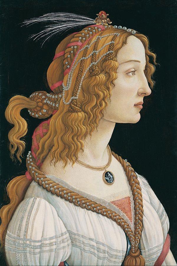 圖4:《年輕女子畫像》,波提且利, 1480-85。