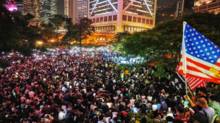 香港人權法造勢大會 逼爆遮打中環 Rally for Hong Kong Human Rights Law Floods Chater & Central