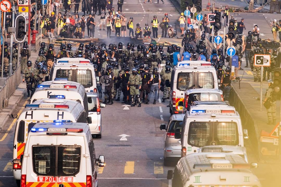 政治問題政治解決,不是用警察解決政治問題。(亞新社)