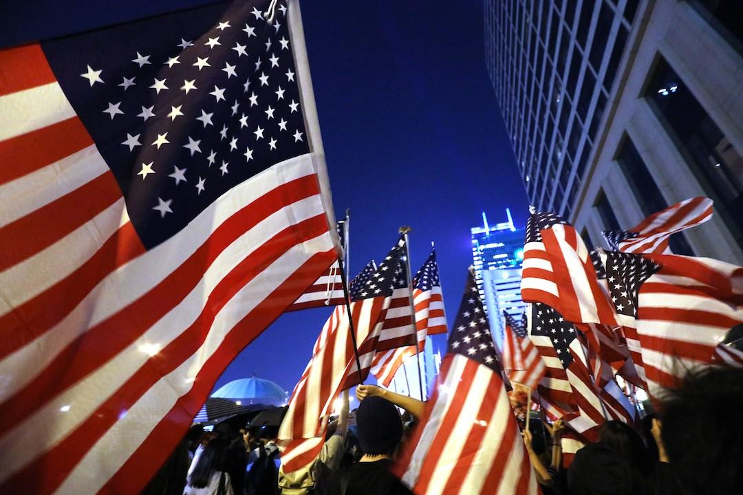 隨着《香港人權與民主法案》於10月15日在美國眾議院獲得通過,令反修例運動循着大國角力的途徑獲得新的能量。(亞新社)