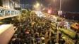 尖東示威者前往理大。