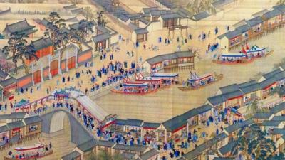 由王翬主筆繪製記錄康熙帝南巡的《康熙南巡圖》。(Wikimedia Commons)