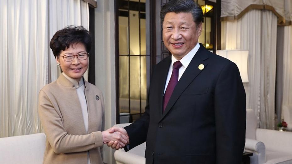 目前對於特首向中央政府一年一度的述職有制度性安排,但北京要向特首傳達「中央精神」則沒有機制。(亞新社)
