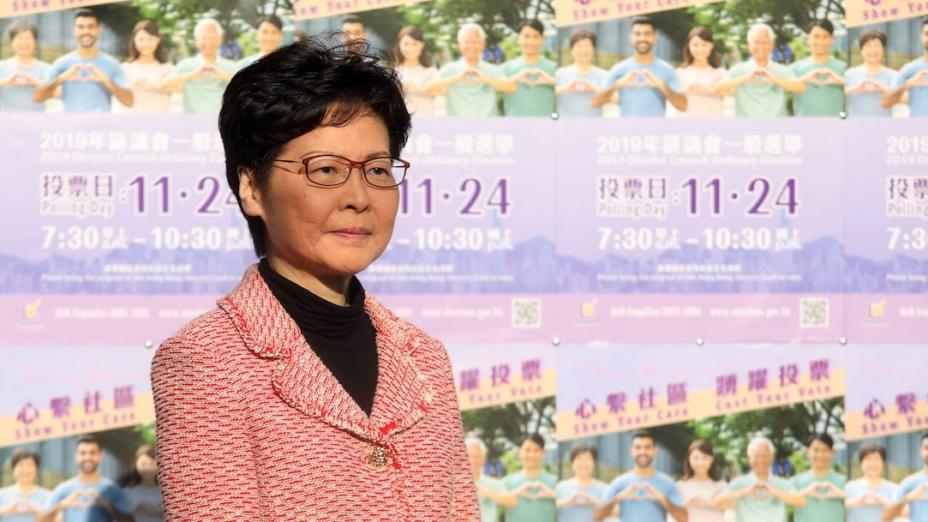 假若林鄭、負責修例的高官和警方高層不盡早下台,香港社會是難以重回正軌的。(亞新社)