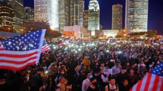 特朗普簽署《香港人權民主法》 數千人中環集會感恩 Thousands Rally to Thank Trump for Hong Kong Human Rights and Democracy Act