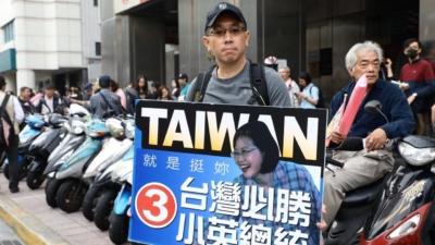 台灣民眾已把定期進行公平公開的選舉視為他們享有的基本公民權利,任何和平統一的方案不能不對這權利予以尊重和保障。(亞新社)
