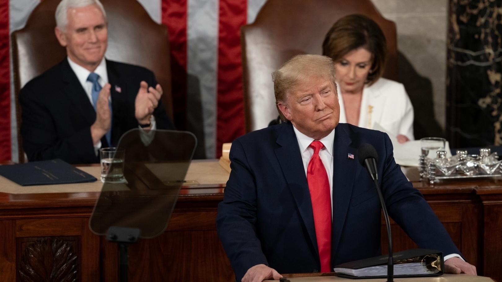 因為美國的參議院是由共和黨控制,議會彈劾特朗普的方案沒有成功。(Wikimedia Commons)