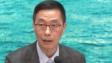 楊潤雄表示,試場會做足防疫措施,包括加強場內清潔,考生進場會度體溫,考生距離會加大,以減感染風險。(有線電視新聞截圖)