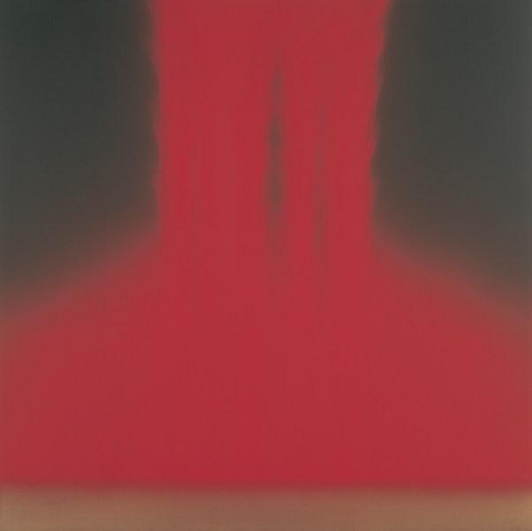 """Falling Color""如流水瀉下,色彩動人。(Hiroshi Senju Museum Karuizawa)"