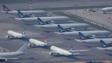 香港國際機場繼續停止一切轉機服務,直至另行通告。(亞新社)