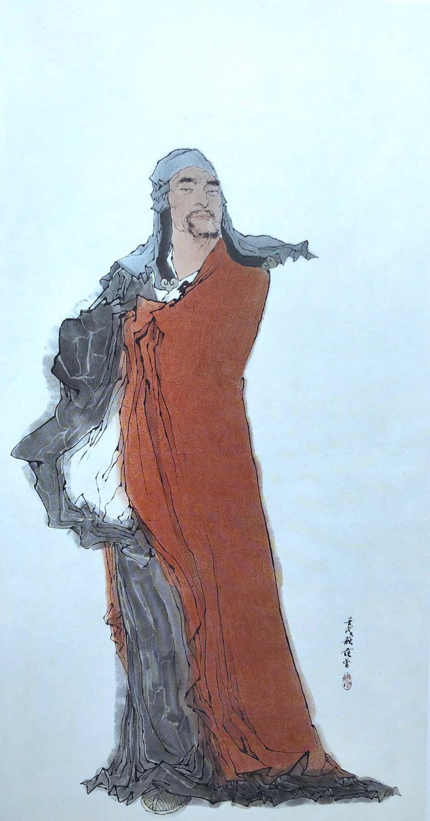 惠能不識字,卻能悟佛法之高妙,成為禪宗六祖。圖為范曾所繪的六祖惠能。(網絡圖片)