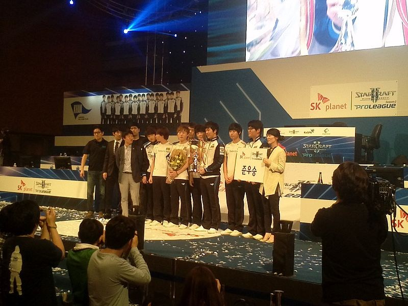 Samsung Galaxy players at the StarCraft II Proleague.(Wikimedia Commons)