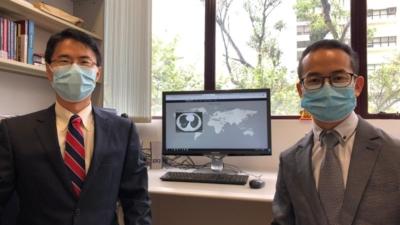 港大統計及精算學系系主任尹國聖教授(左)及西南財經大學統計學院助理教授劉斌博士(現為港大博士後研究員) 。