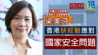 梁美芬:香港缺經驗應對國家安全問題